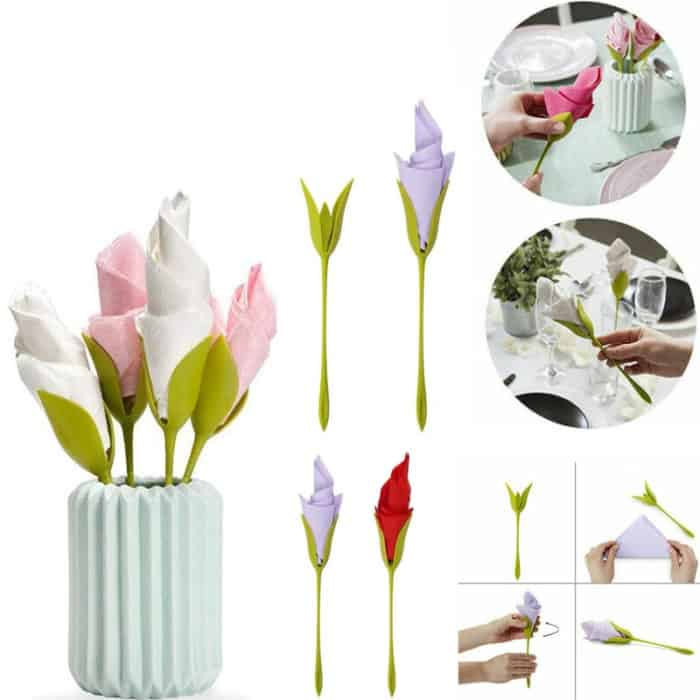 Napkin Holder DIY Flower Branch Decoration