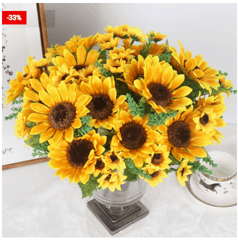 Artificial Sunflowers Decor One Bouquet For Your Home