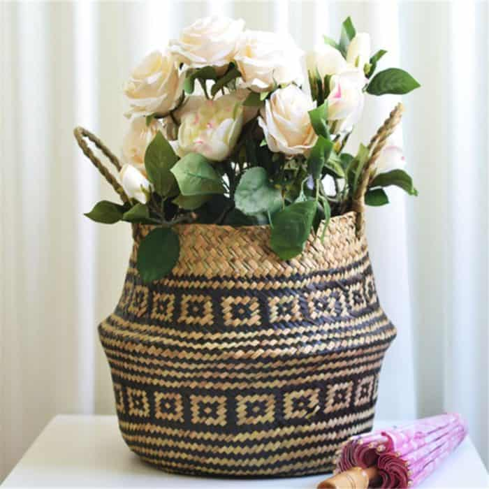 Seagrass Baskets Straw Home Décor